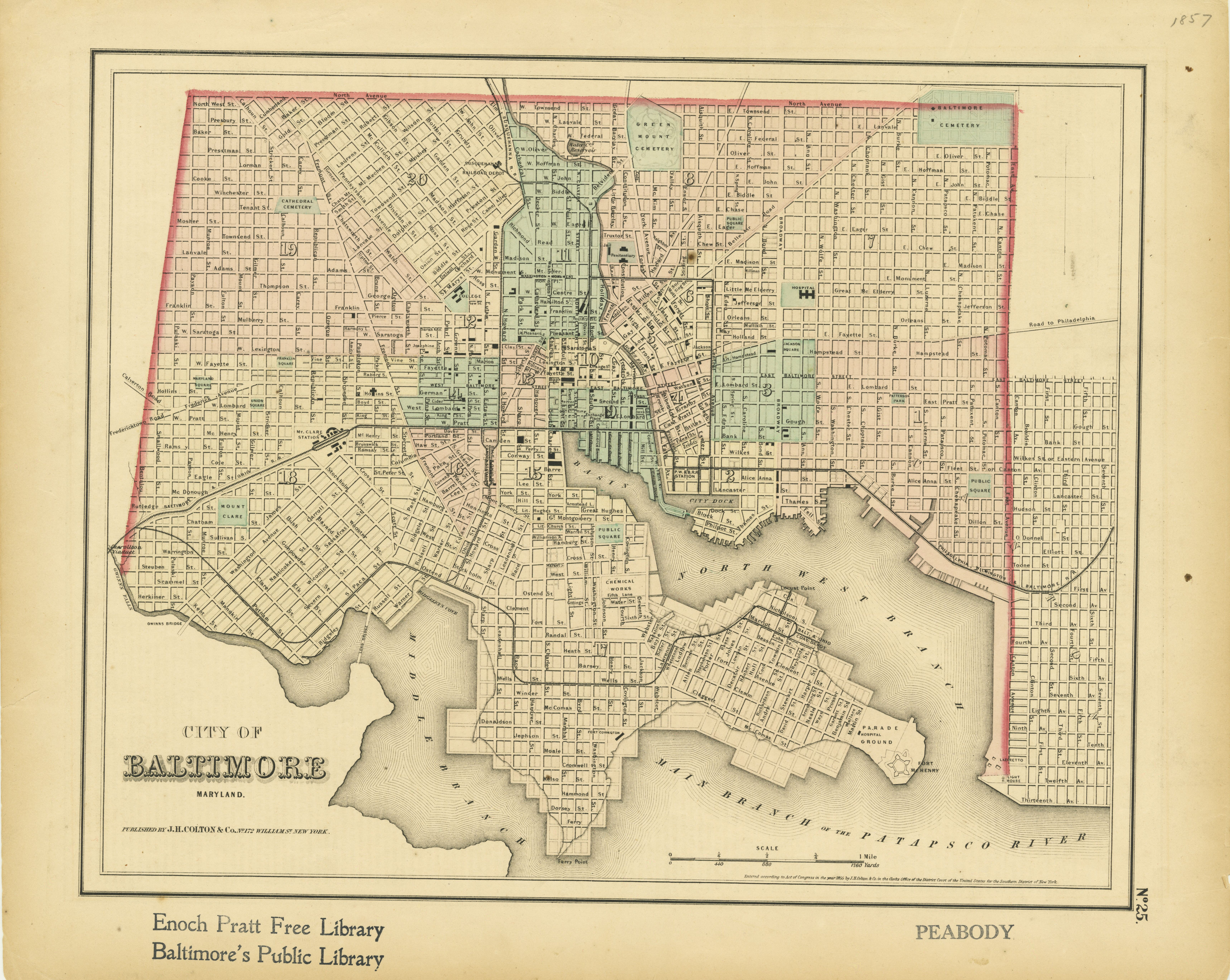 Another Awesome Map of Baltimore (1857)