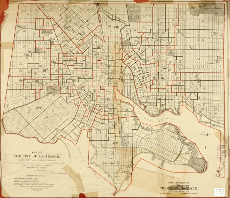 1881 map of Baltimore