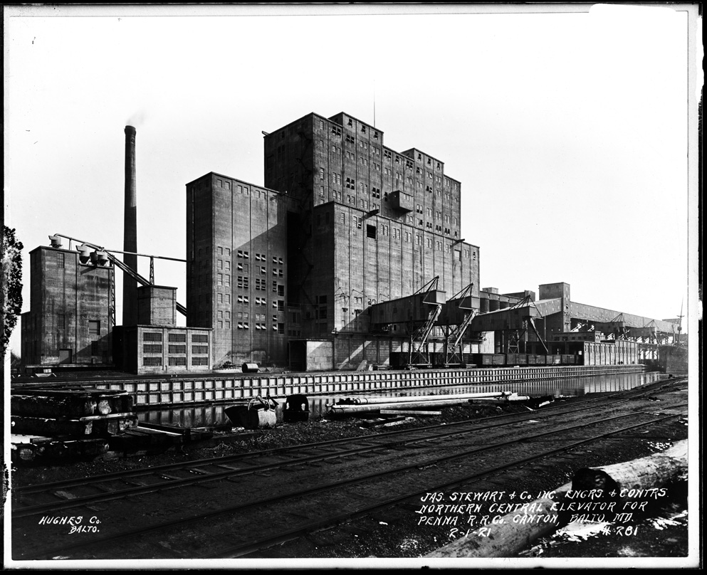 Pennsylvania Railroad grain elevator in Canton, Baltimore