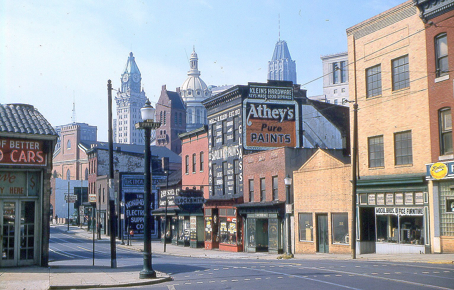 Downtown at Fallsway in the 1950s