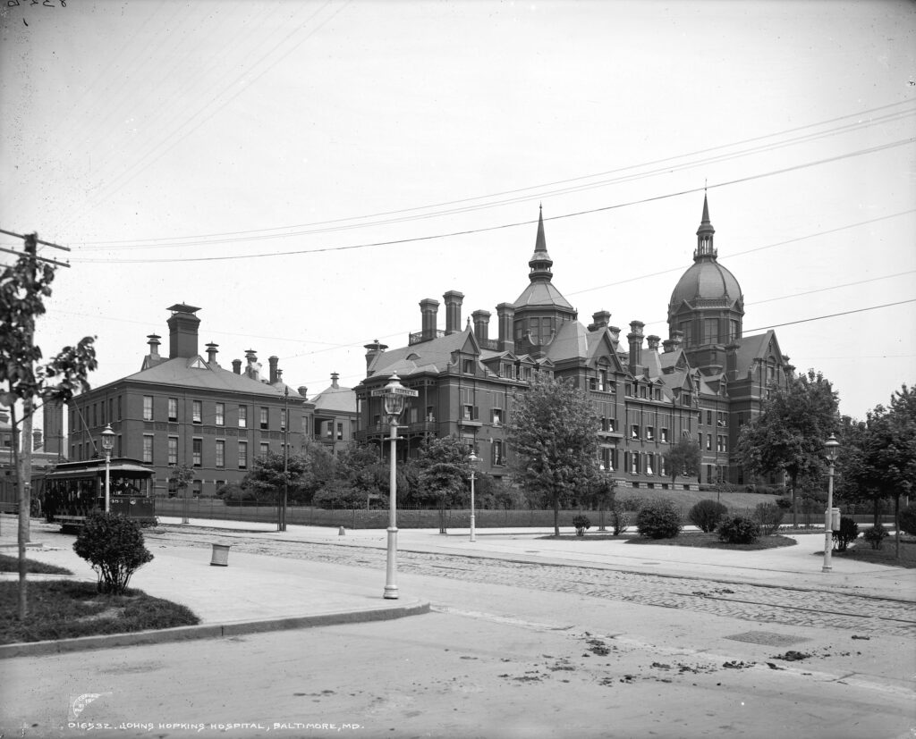 Johns Hopkins hospital in 1903