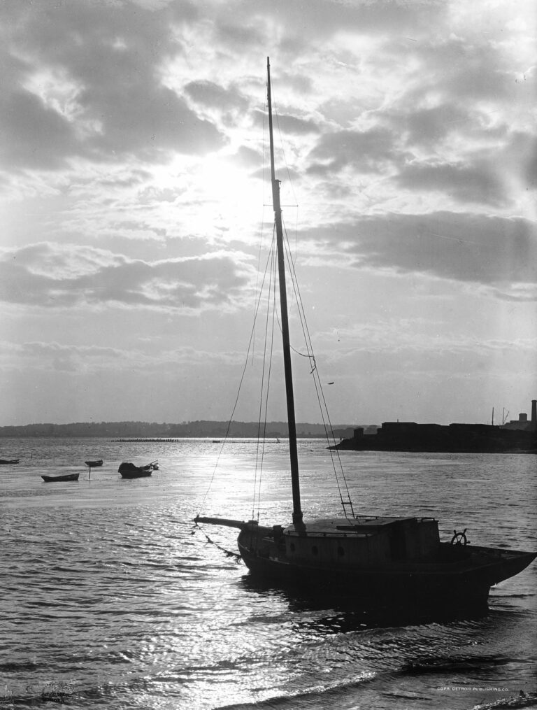 sunset over Ft. McHenry in 1906