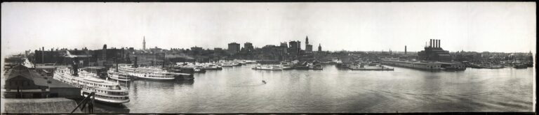 Baltimore Harbor in 1912
