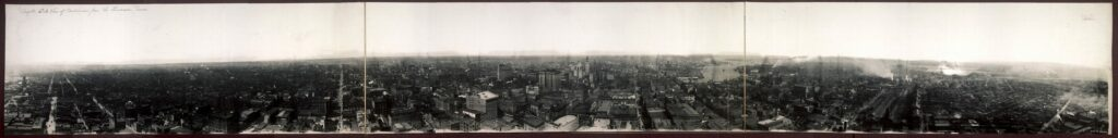 Complete circle view of Baltimore from the Emerson Tower in 1913