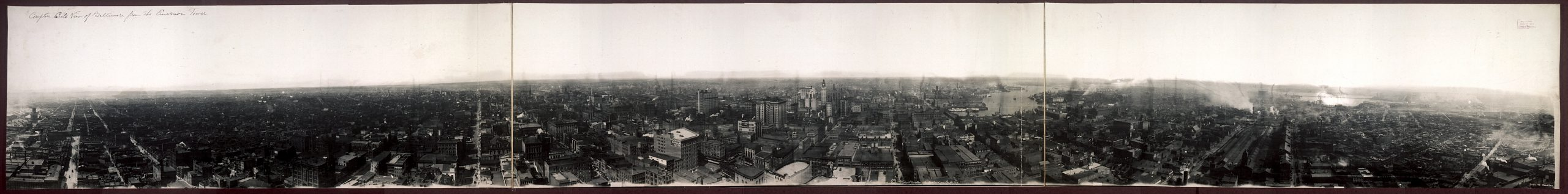 Wow! 360-Degree View of Baltimore from Emerson Tower (1913)