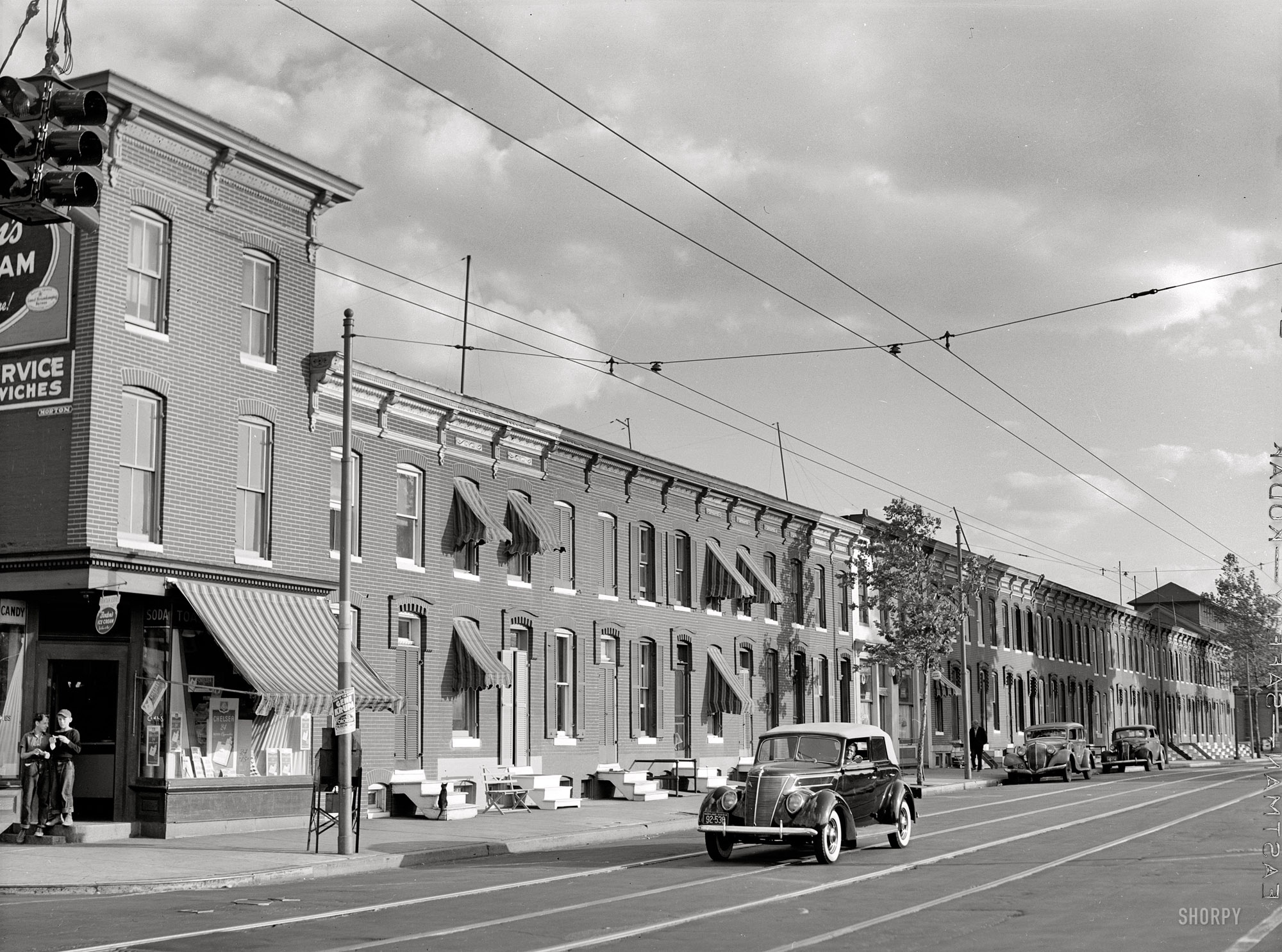 Great 1940s Photo of Row Houses