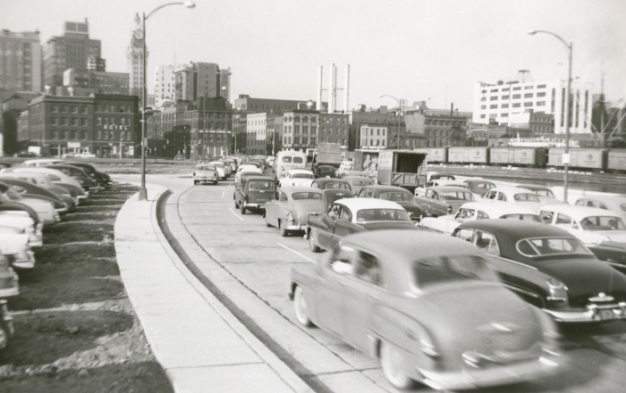 Photo taken from Light St. in the 1940s.