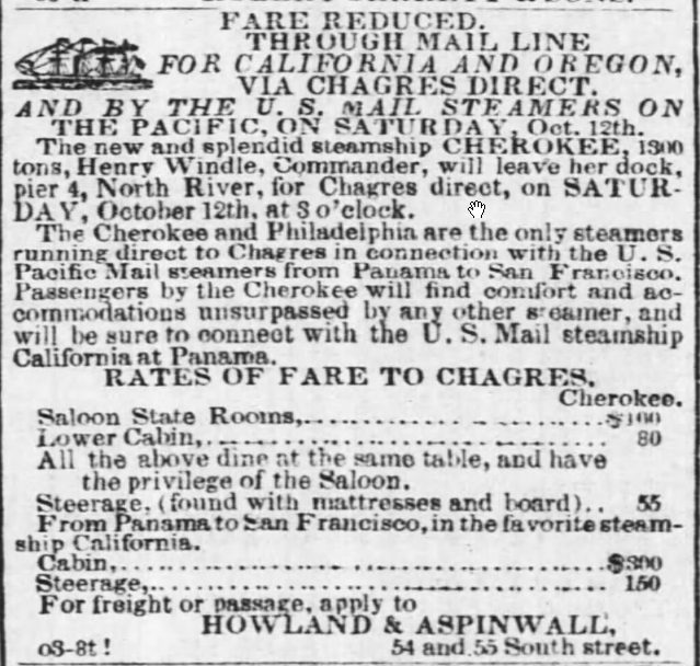 Baltimore Sun advertisement 1850