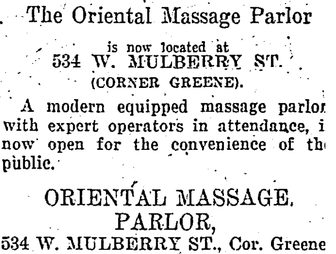The Oriental Massage Parlor