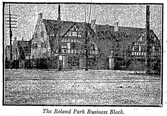 the Roland Park business block