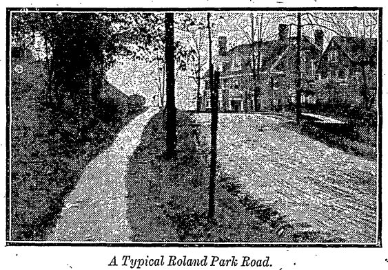 a typical Roland Park road