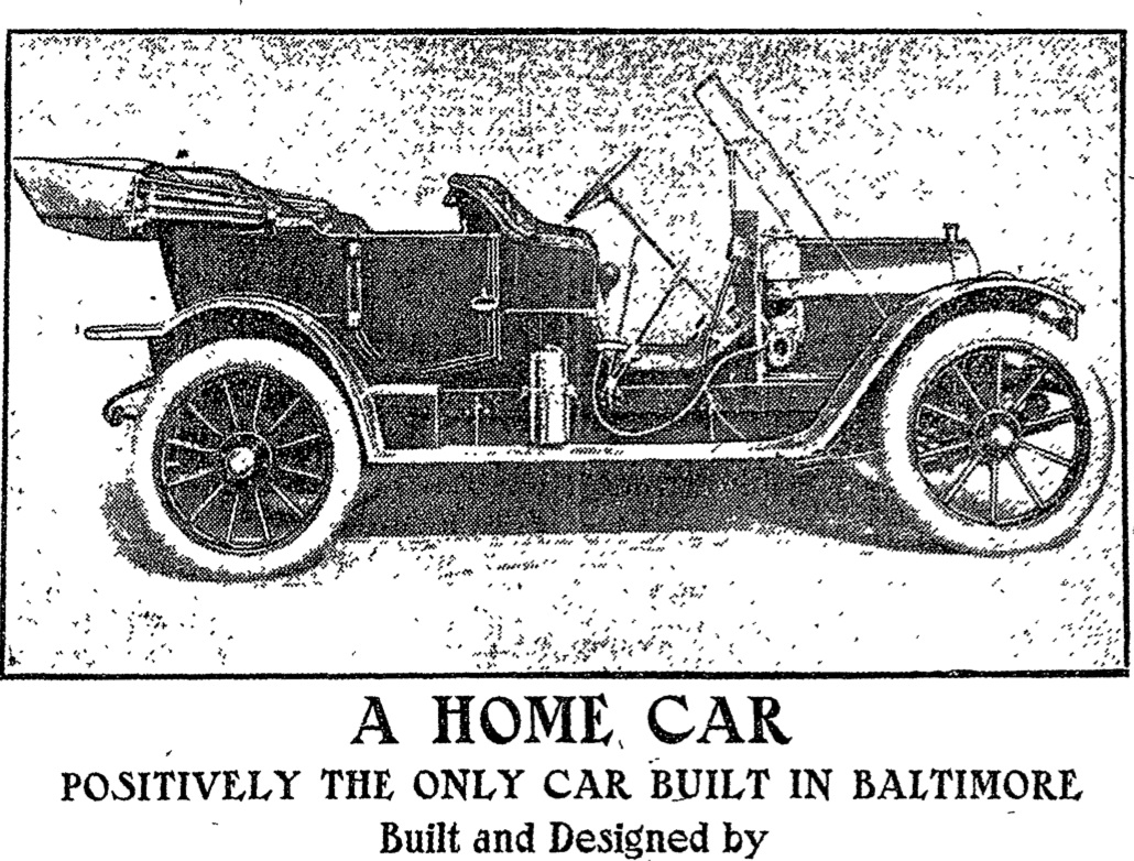 Ad for Baltimore-Built Spoerer Car in 1911