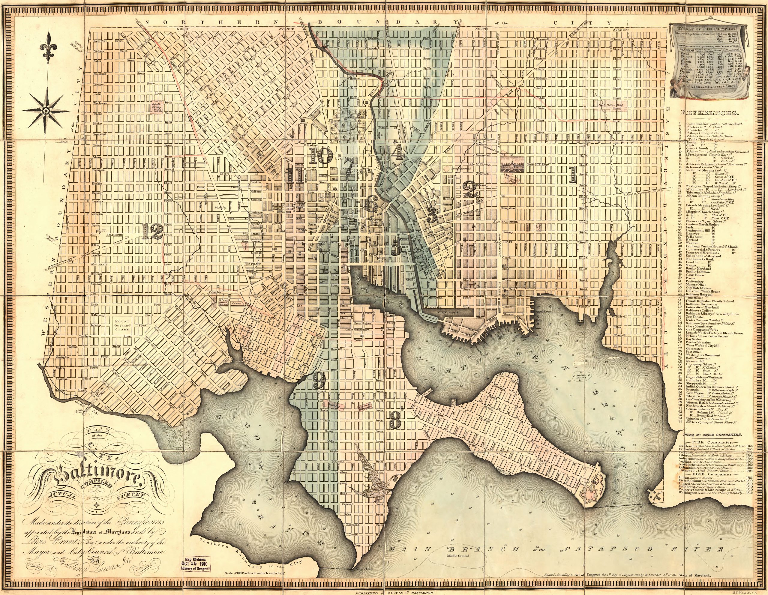 1822 Map of Baltimore
