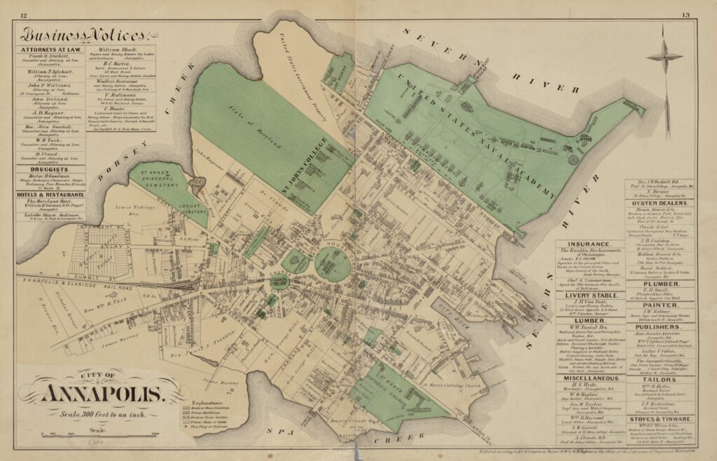 1877 map of Annapolis