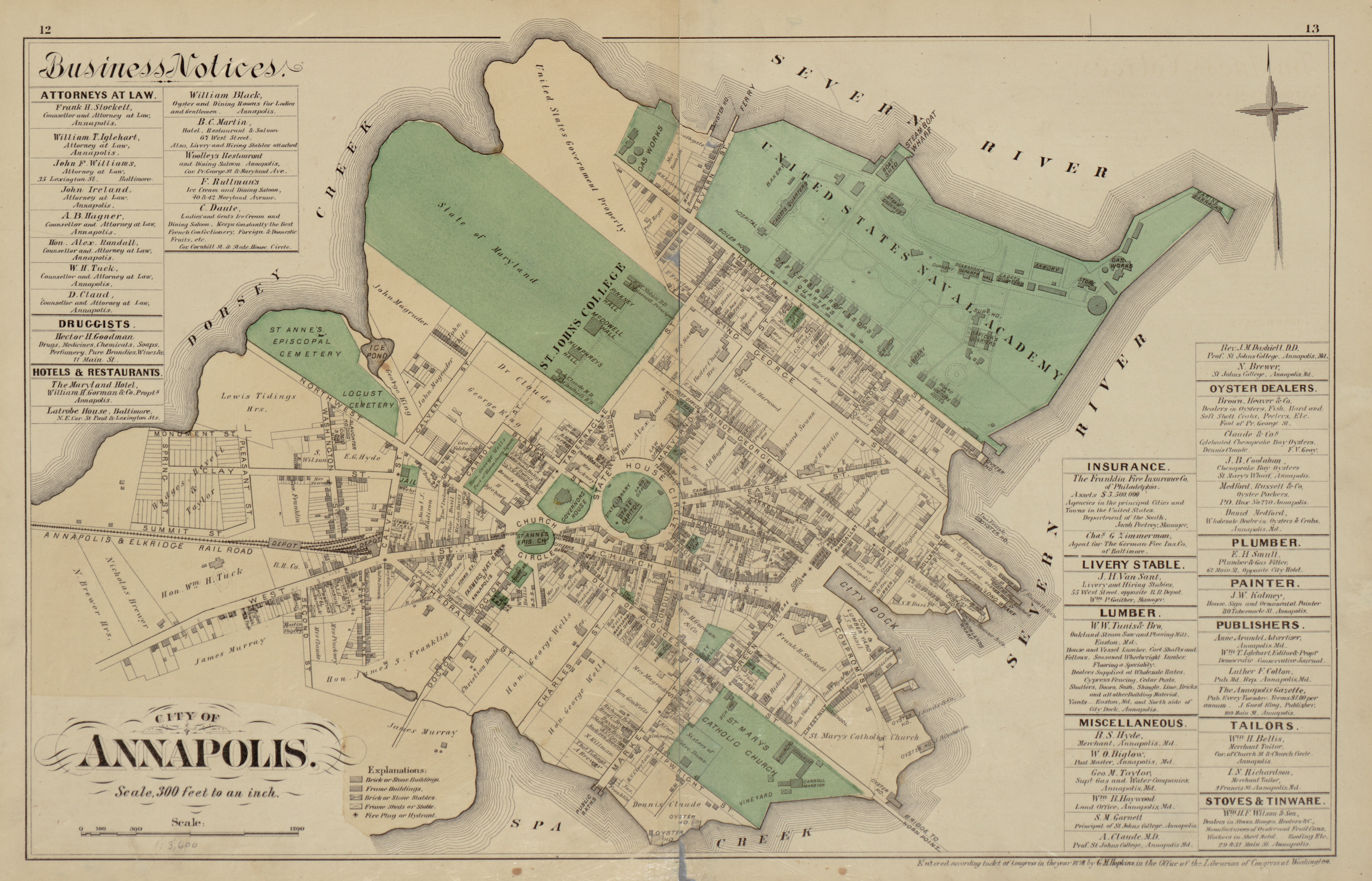 Get a Glimpse of Old Annapolis With This 19th Century Map