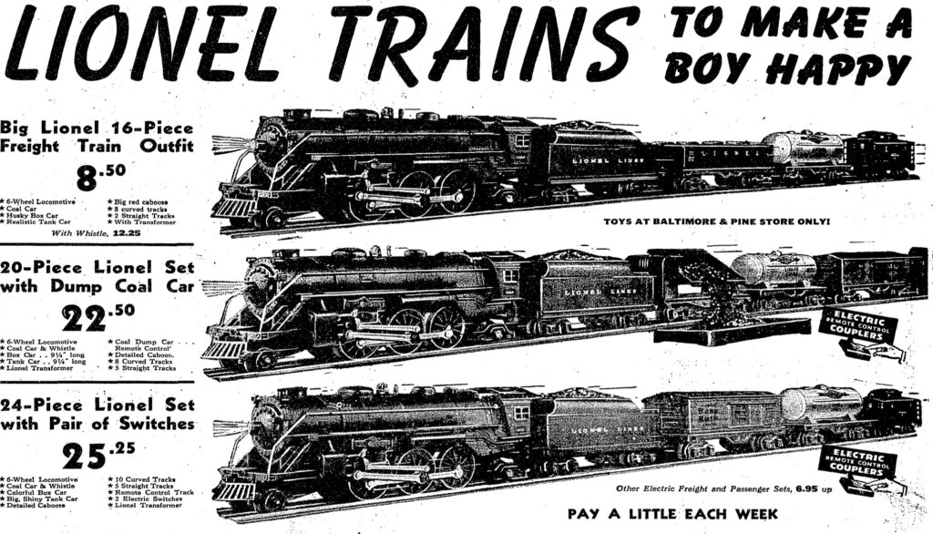 Lionel Trains advertisement