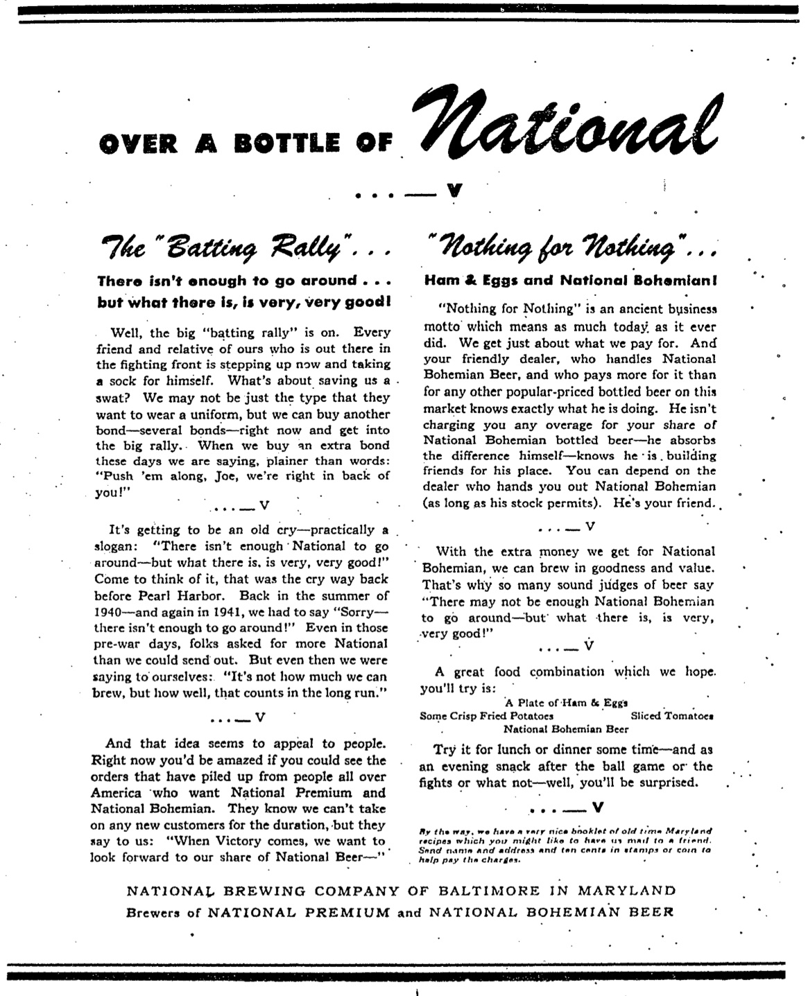 National Brewing Company of Baltimore