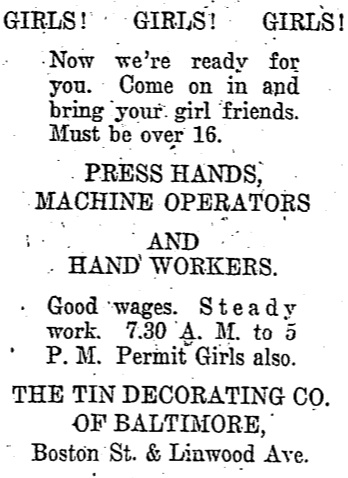 Girls! Girls! Girls! Good Wages. Steady Work.