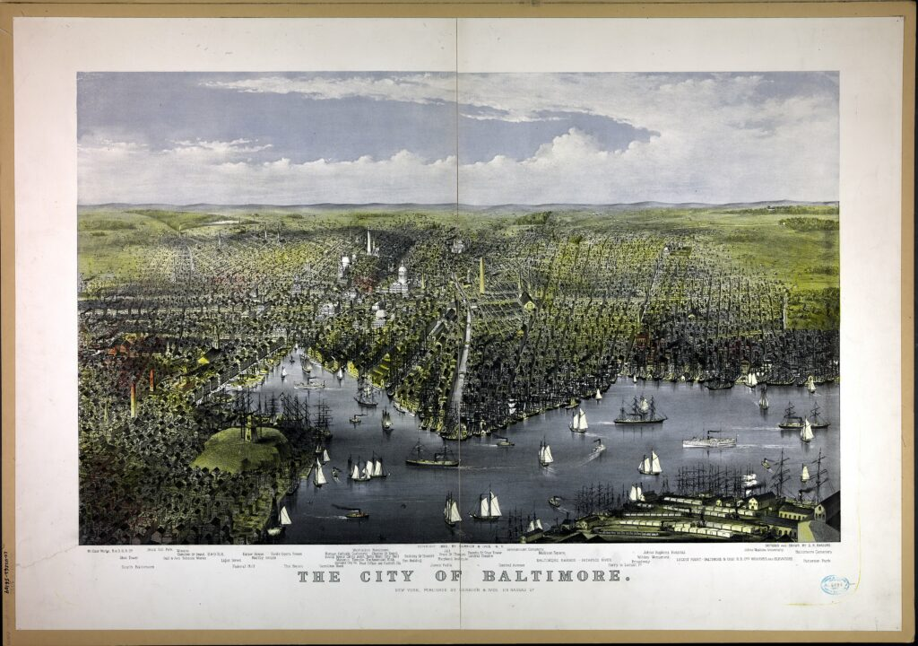 The City of Baltimore / sketched and drawn by C.R. Parsons. (1880)