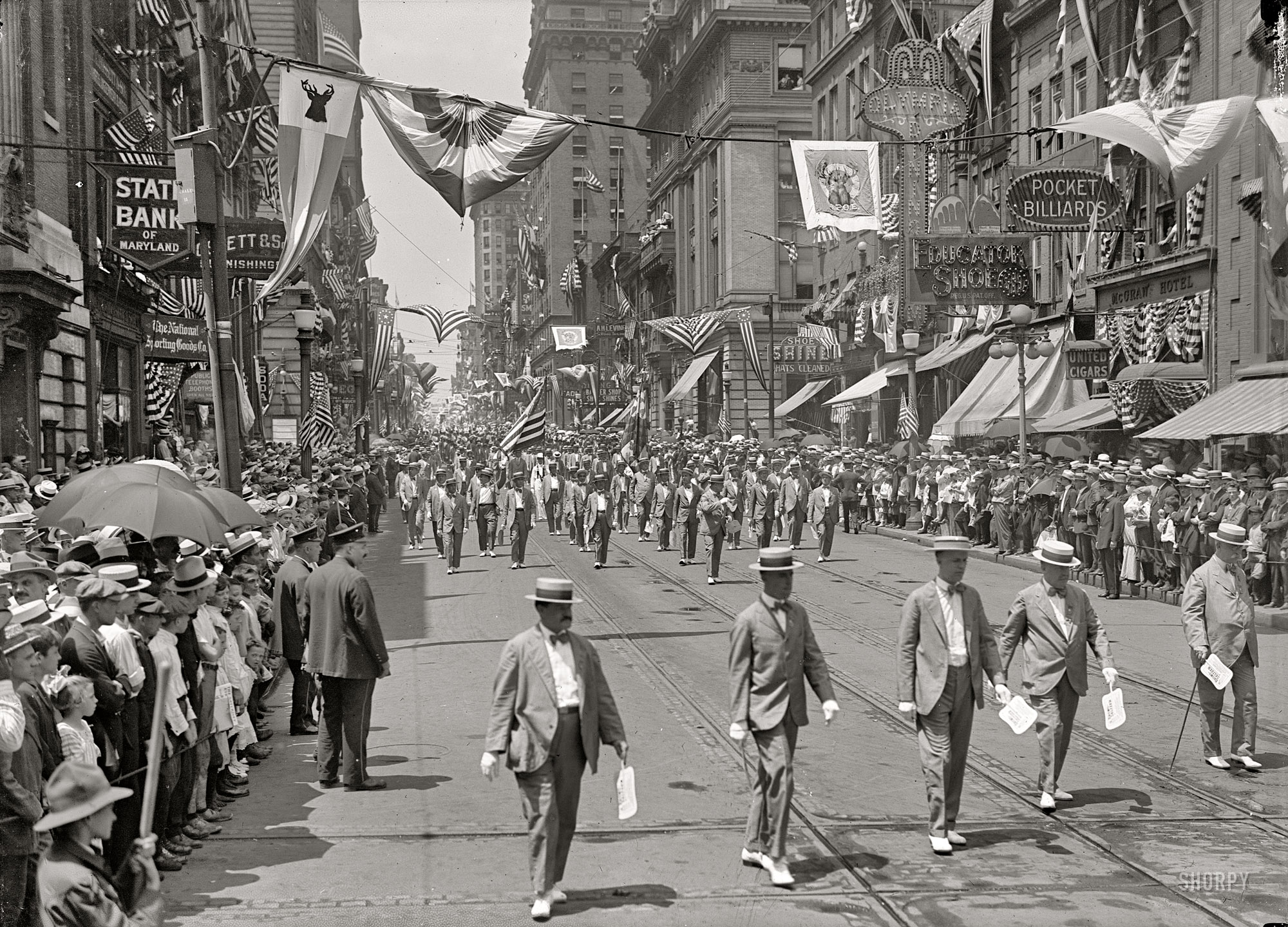 Baltimore Street Parade in 1916