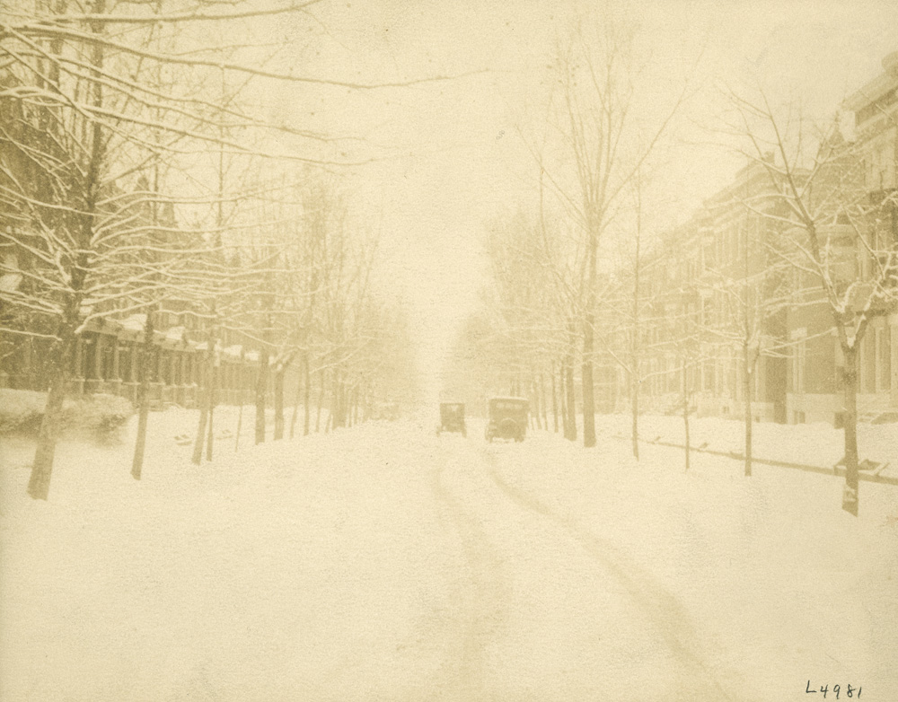 1920s View of a Snowy North Calvert Street