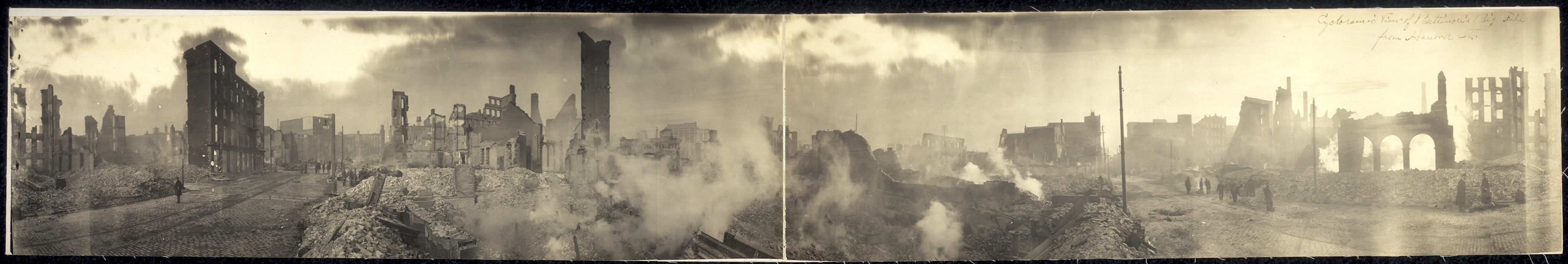 Incredible Panoramic Photo of 1904 Baltimore Fire