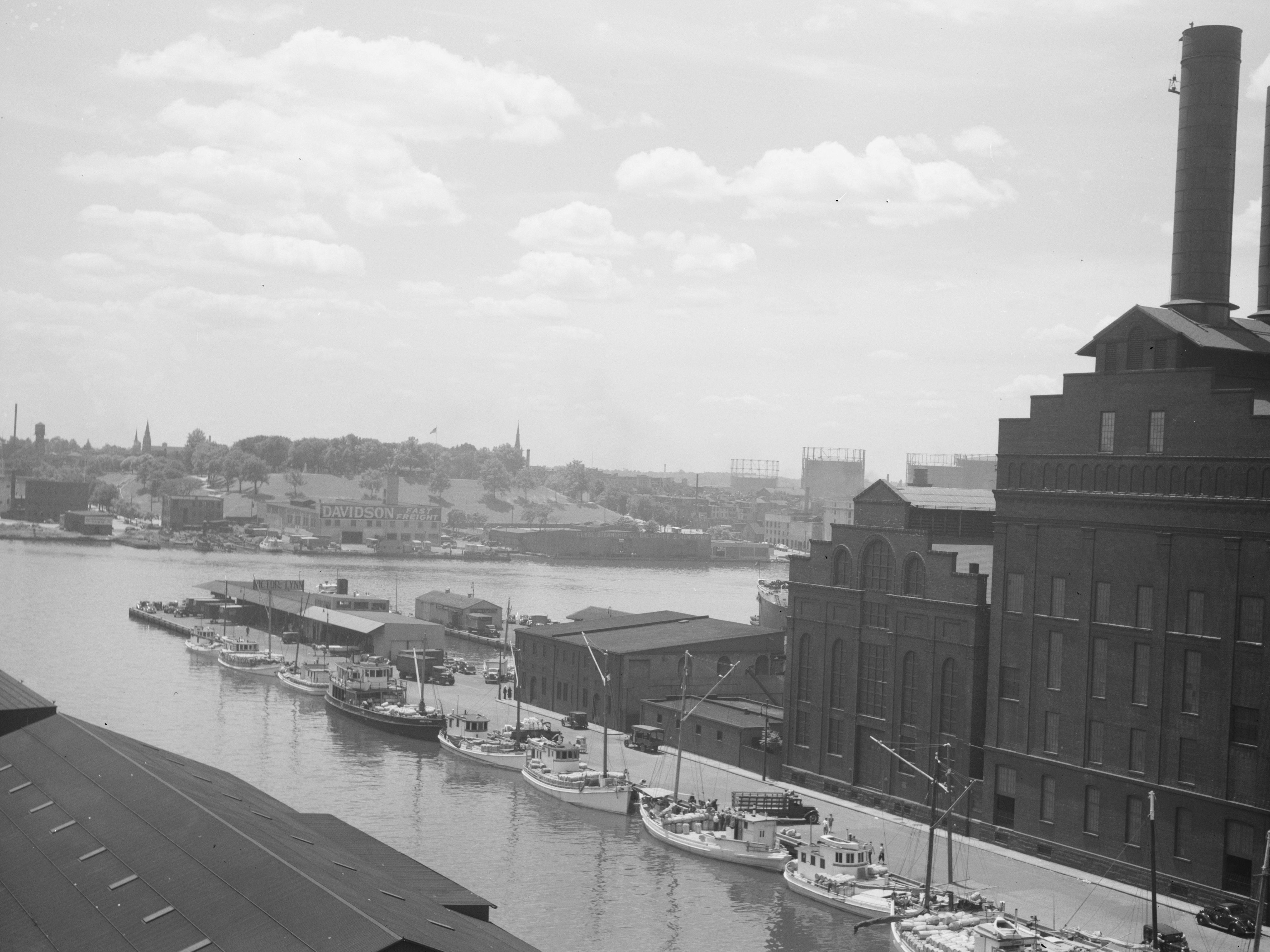 Cool Views of Waterfront in 1938
