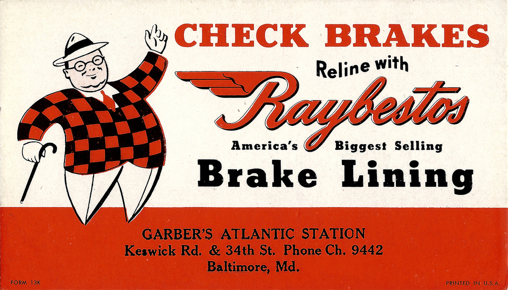 Check Brakes, Reline With Raybestos