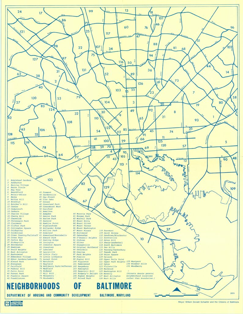 Baltimore map from 1978