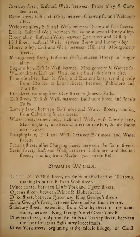 Baltimore city directory - 1799