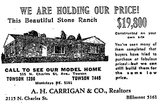 Towson home advertisement