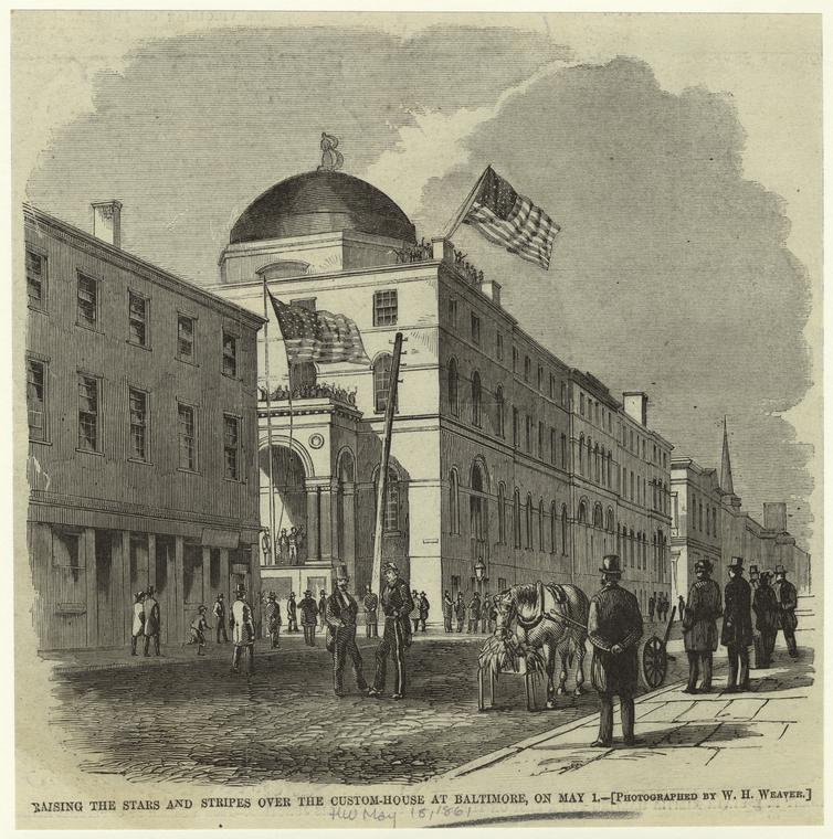 Confederate Riots Suppressed; Union Flag Flies Over Baltimore