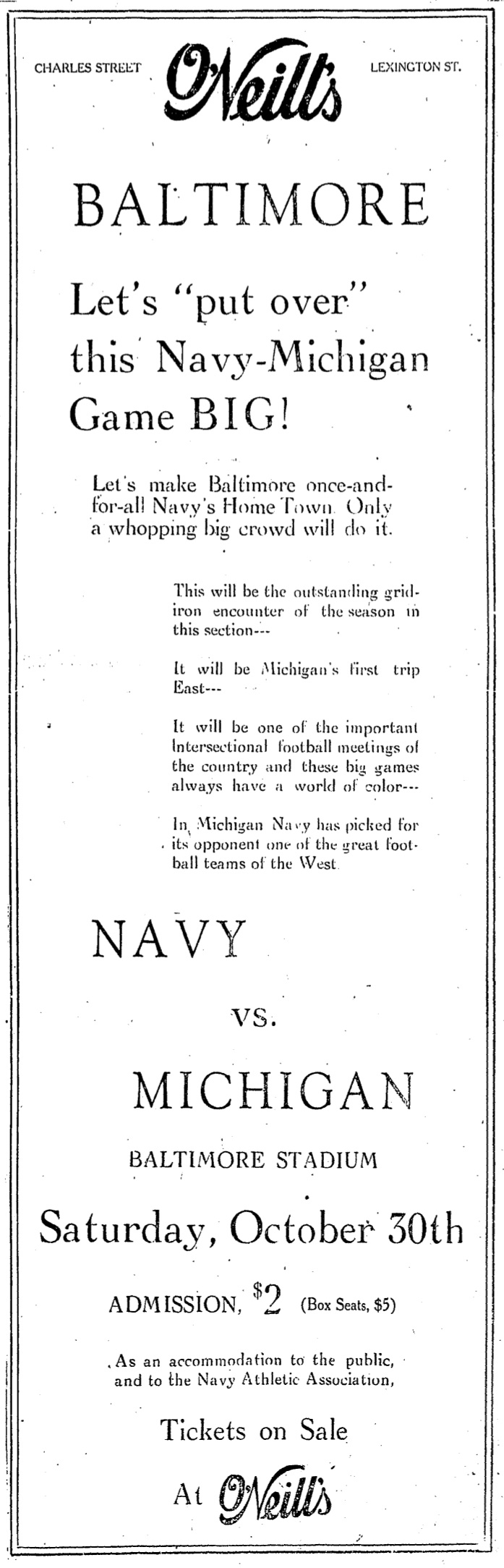 Navy vs. Michigan (1926)
