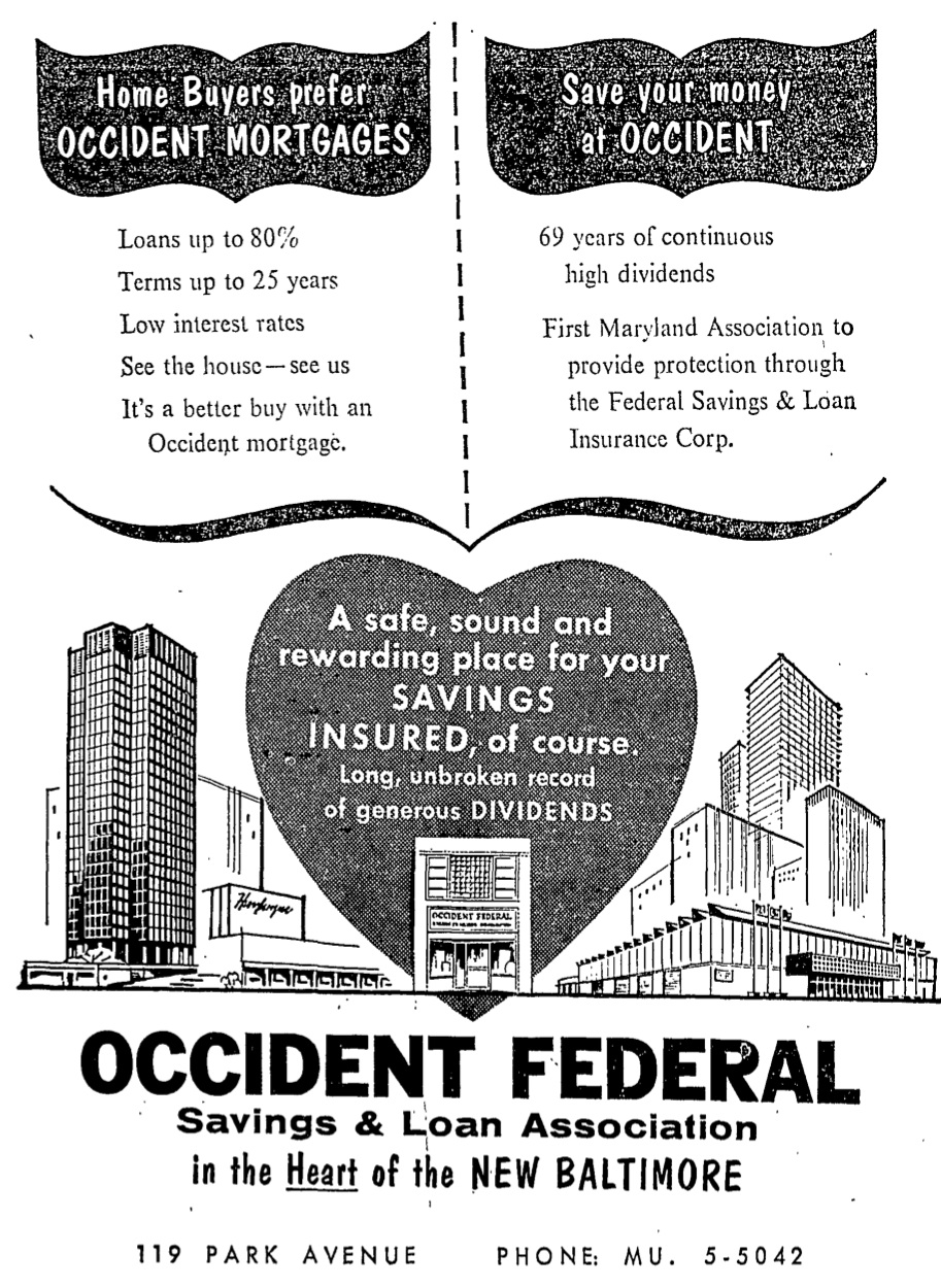 1964 Occident Federal Mortgage Advertisement