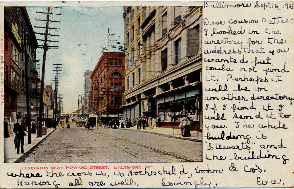 A Postcard From Baltimore in 1905
