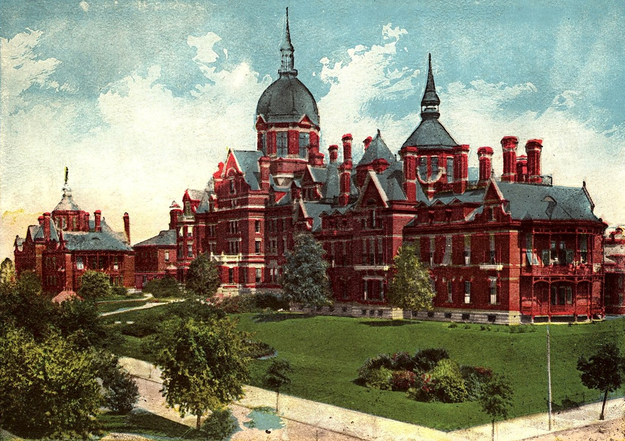 Old Color Postcard of Johns Hopkins Hospital