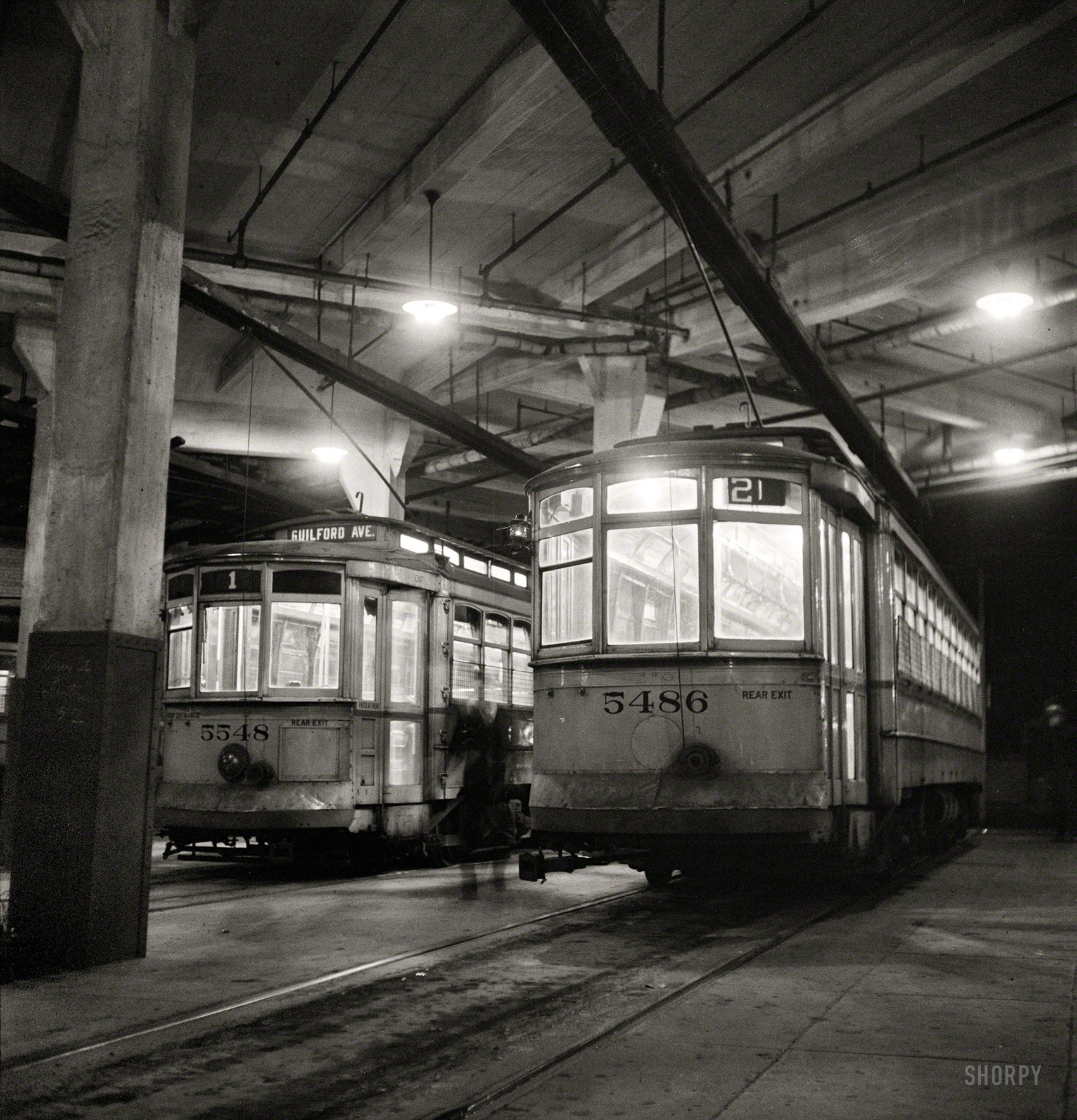 Park Terminal at Night in 1943