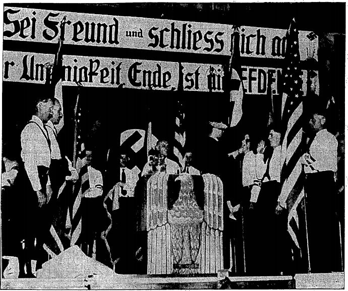 Nazi rally at Lehmann Hall (1935)