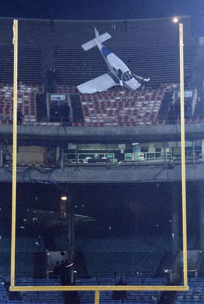 plane crash at Memorial Stadium 1976