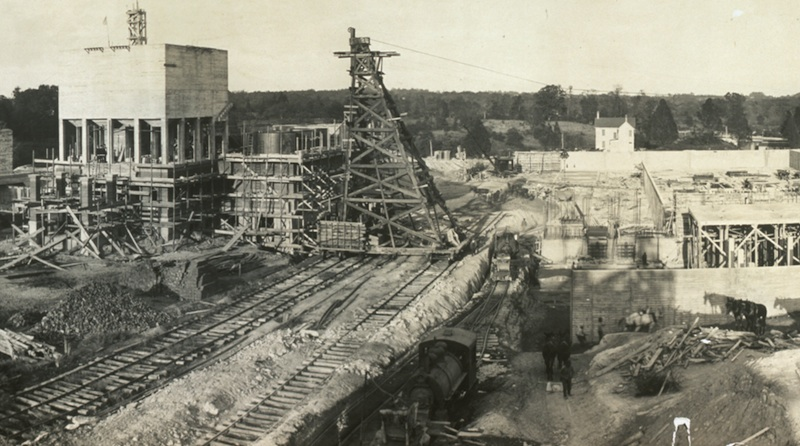 Beautiful 1914 Panorama of Montabello Filtration Plant
