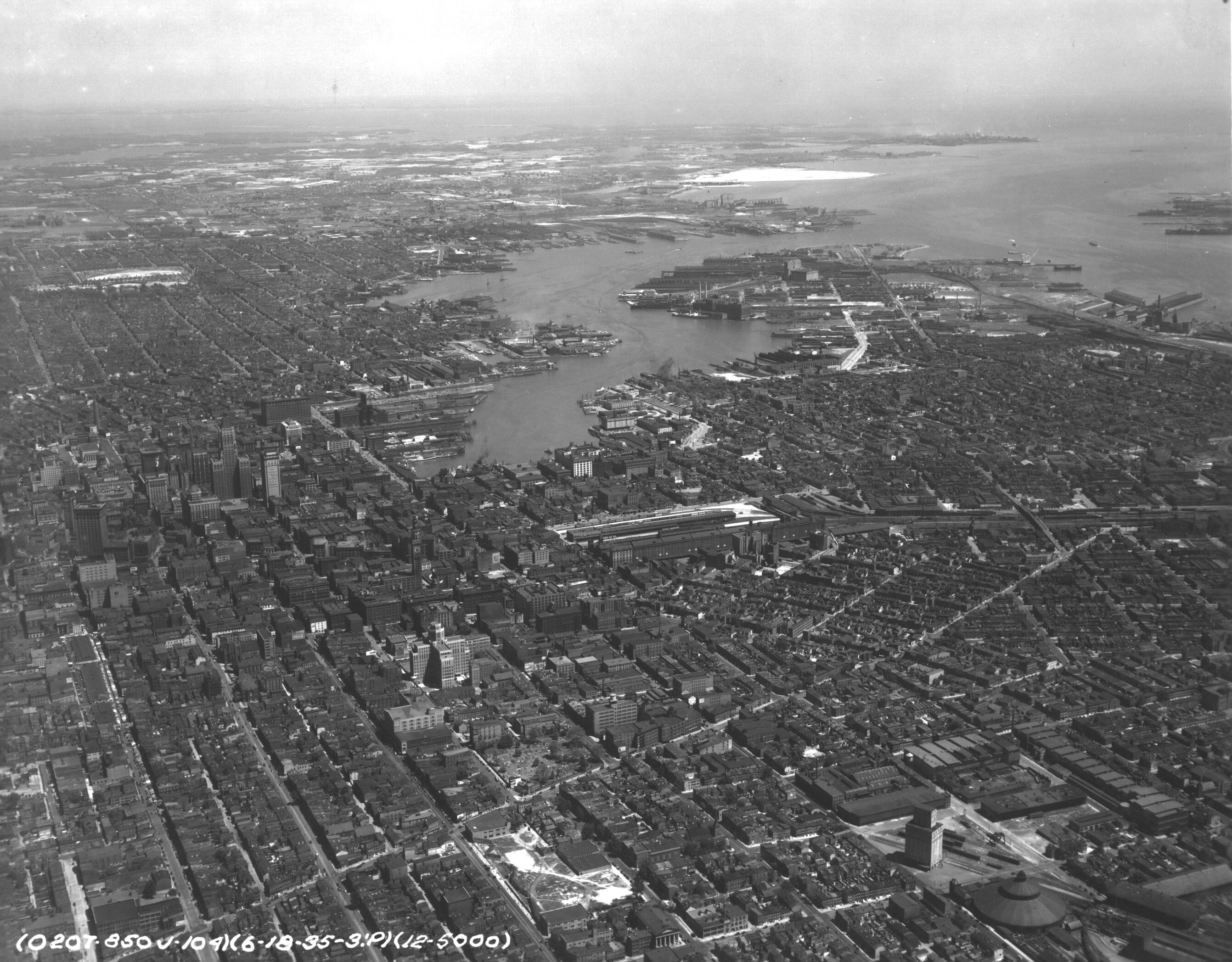 1935 Aerial Photo of Baltimore