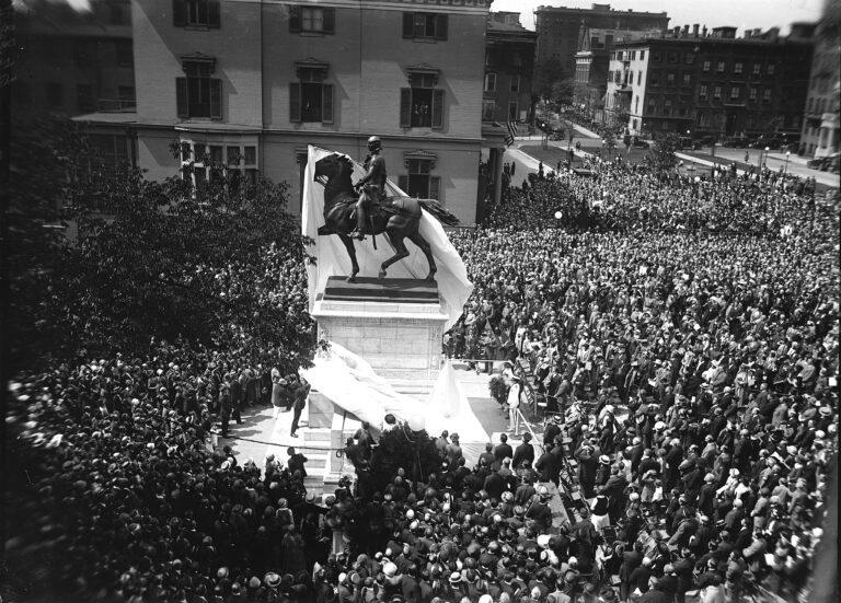 unveiling of Lafayette statue