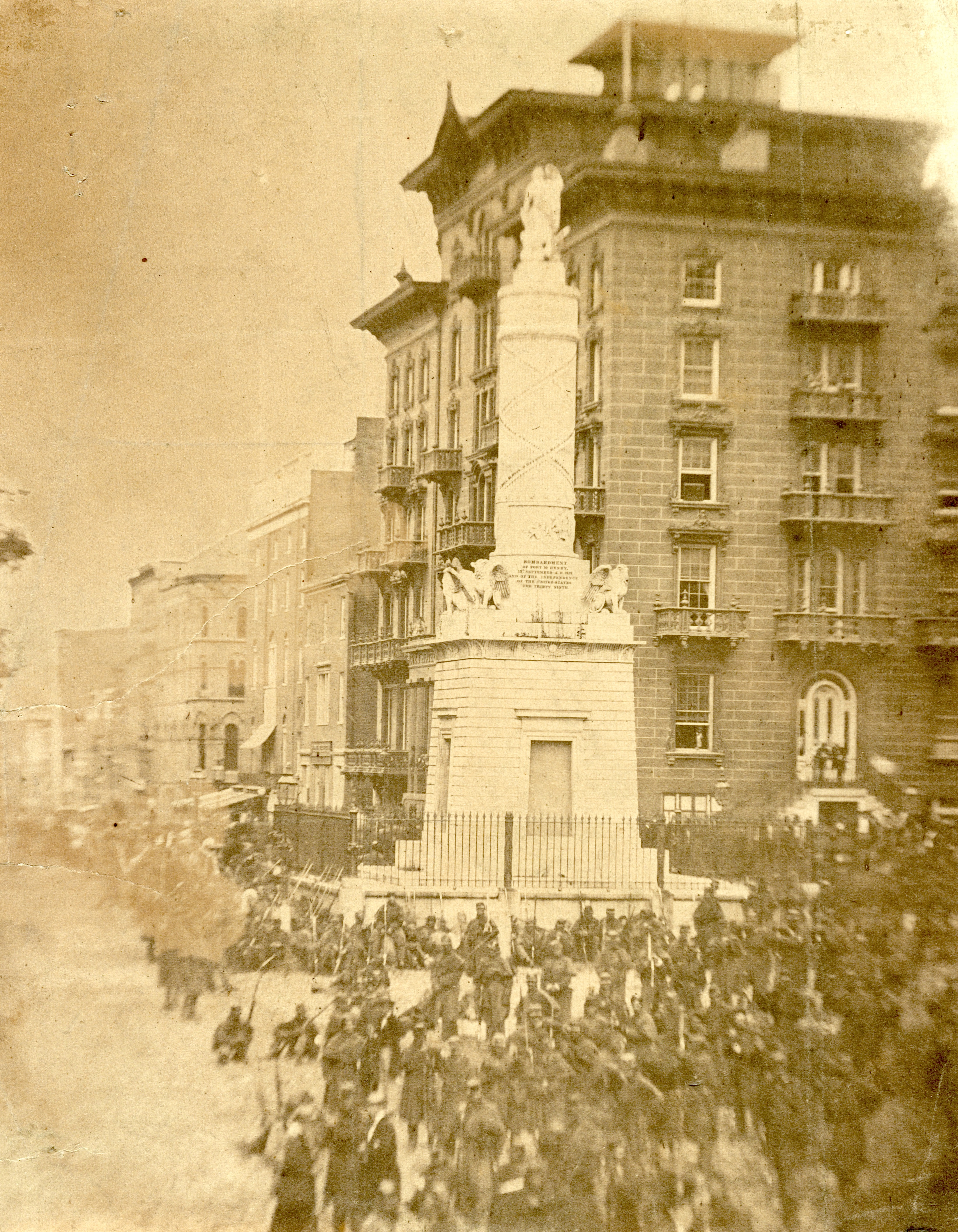 Civil War Soldiers at Monument Square