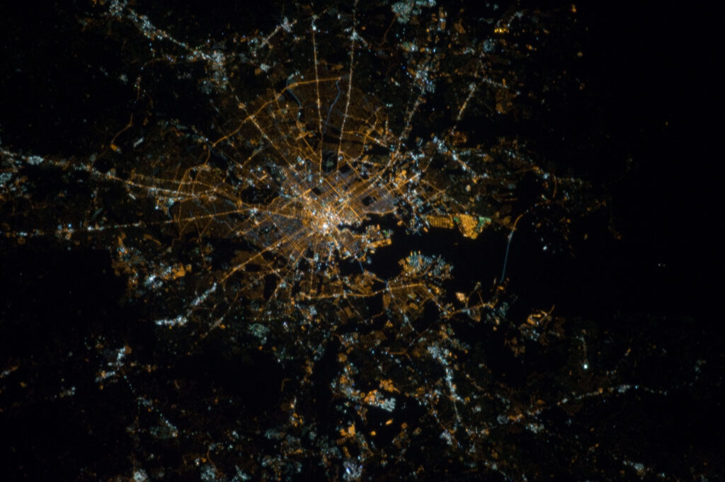 Baltimore, Maryland at Night (NASA, International Space Station, 10/16/12)