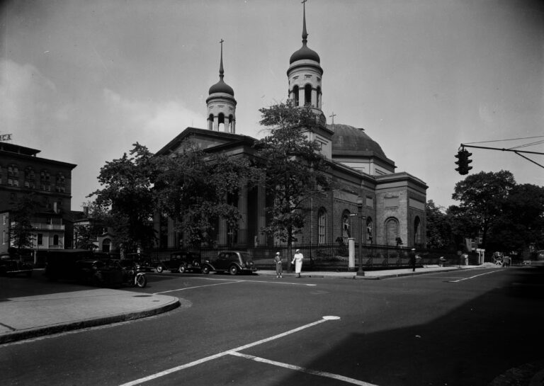 Minor Basilica, Assumption of the Virgin Mary, the Roman Catholic Cathedral of Baltimore, building completed in 1821, photographed and documented after 1933.