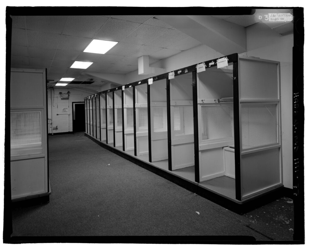 lockers at Memorial Stadium