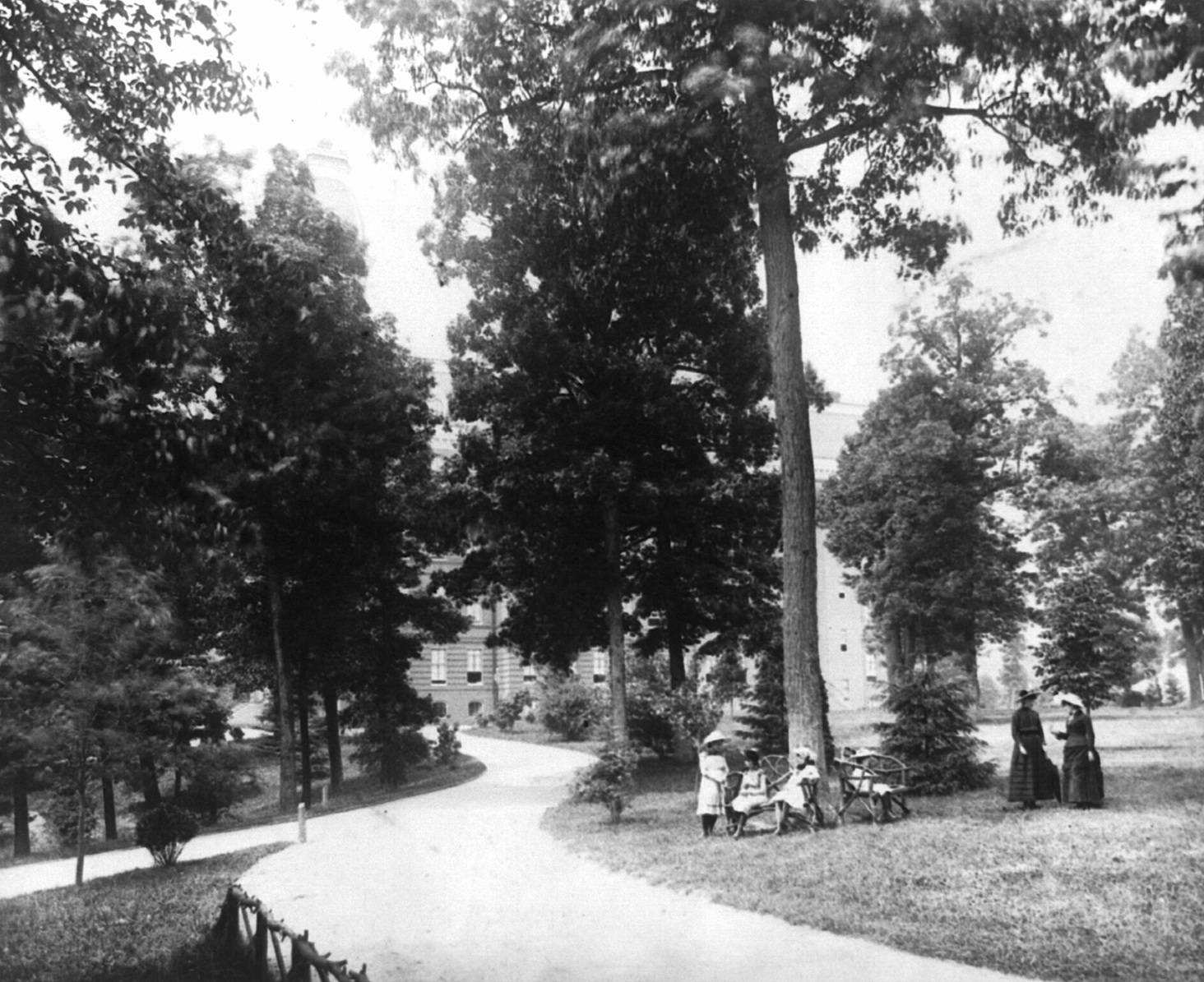 Notre Dame Academy Grounds in the 19th Century