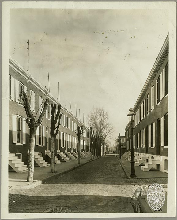 Glover Street Homes Near Patterson Park in 1930