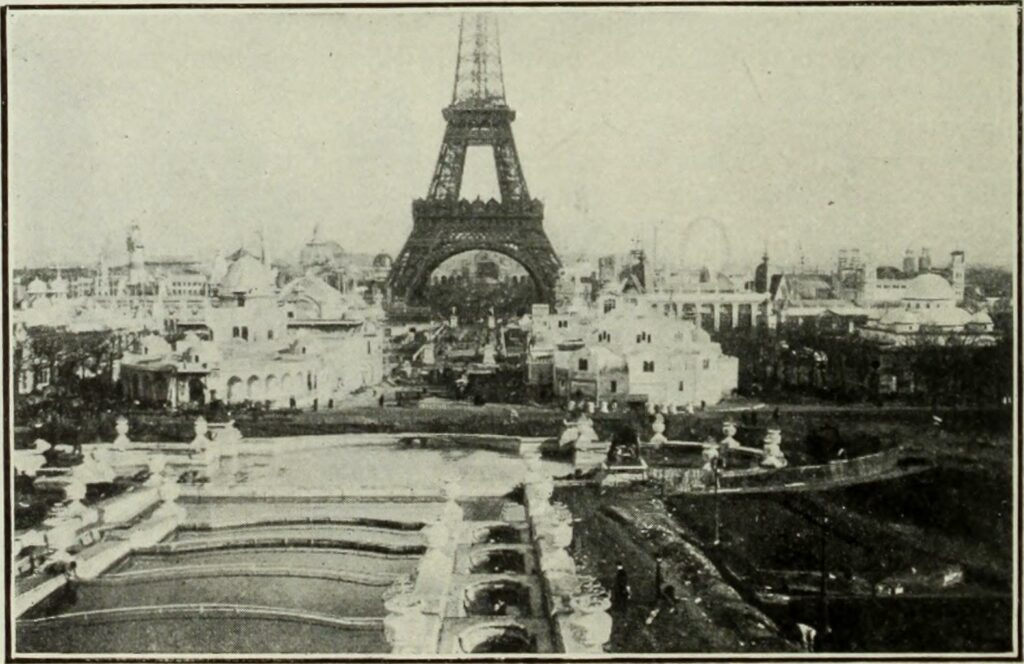 The Eiffel Tower in 1890