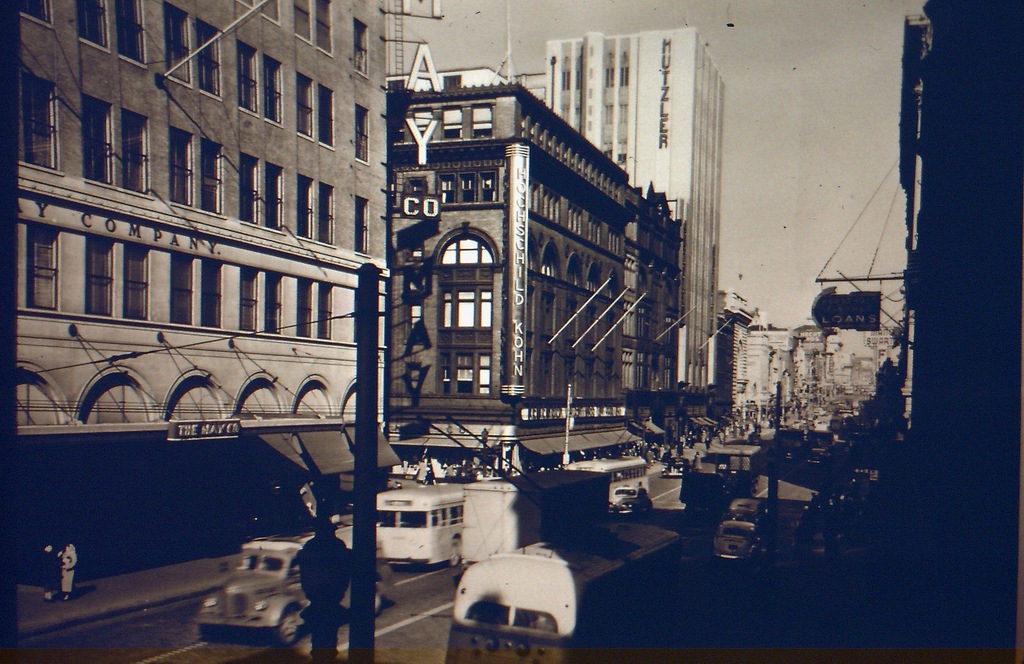 Downtown Baltimore in the 1940s